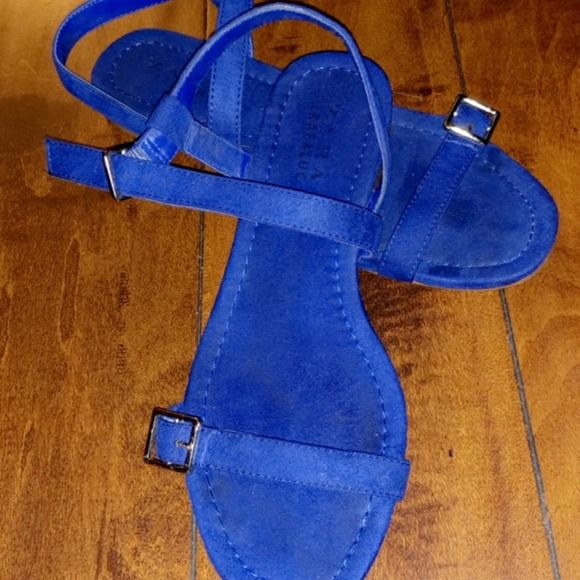 Zara Shoes | Royal Blue Sandals | Poshmark